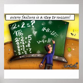 Cada fracaso es un paso al éxito posters