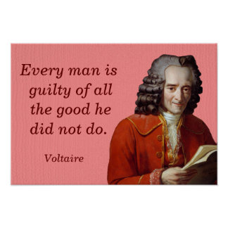 Cada hombre culpable -- Voltaire Póster