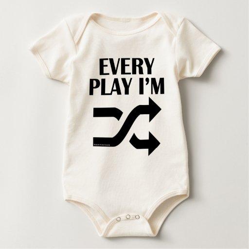 Cada juego soy Shufflin Traje De Bebé