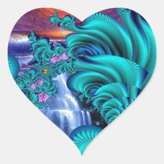 cada lágrima es una cascada 60x40 pegatina en forma de corazón