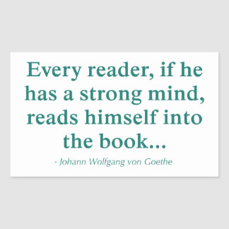 Cada lector se lee en el libro rectangular pegatina
