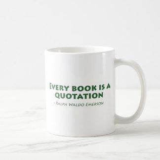 Cada libro es una cita tazas