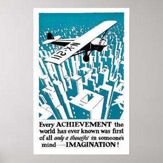 Cada logro comienza con… ¡IMAGINACIÓN! Póster