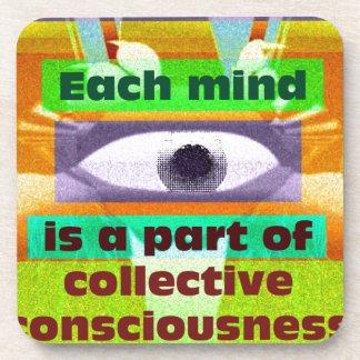 Cada mente es una parte de conciencia colectiva posavasos