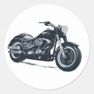 Cada muchacho ama una motocicleta americana azul g pegatina redonda