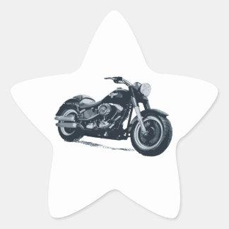 Cada muchacho ama una motocicleta americana azul pegatina en forma de estrella