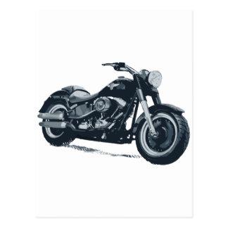 Cada muchacho ama una motocicleta americana azul postales