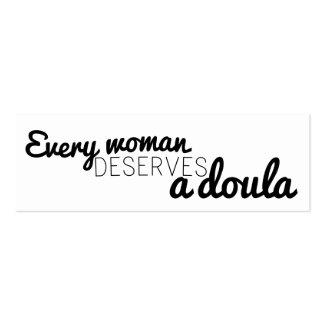 Cada mujer merece un doula - tarjetas de visita