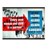 Cada mujer y niño del hombre tarjetas postales