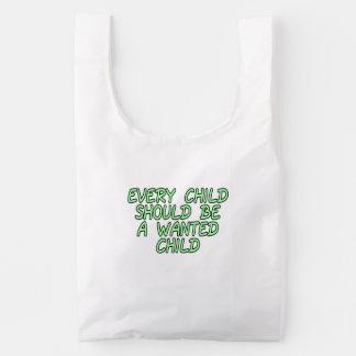 Cada niño debe ser un niño querido bolsa reutilizable