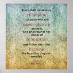 Cada niño merece a un campeón posters