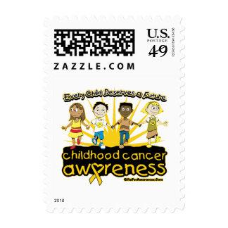 Cada niño merece a un cáncer futuro de la niñez timbre postal