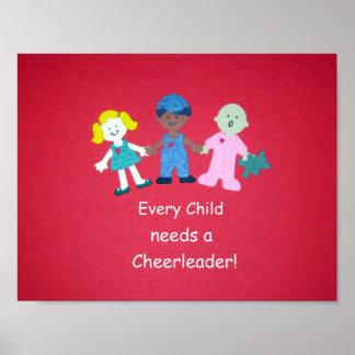 ¡Cada niño necesita a una animadora! Impresiones
