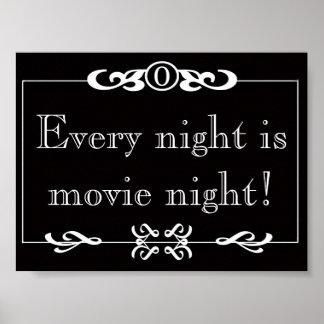 Cada noche es poster de la noche de película
