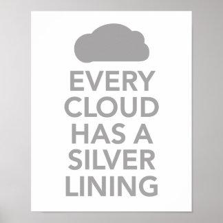 Cada nube tiene un lado positivo poster