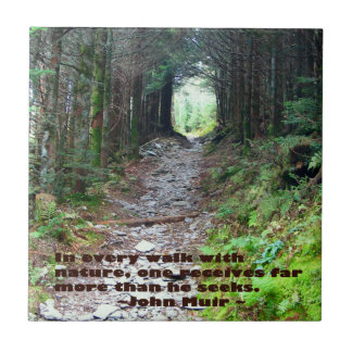 Cada paseo w/nature John Muir de la pista de Azulejo Cuadrado Pequeño
