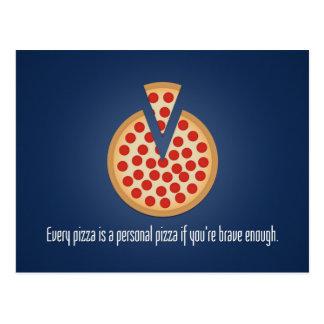 Cada pizza es una pizza personal postales