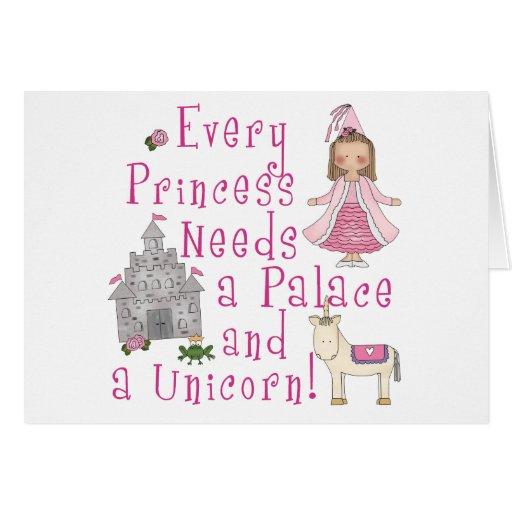 Cada princesa tarjeta pequeña