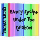 Cada receta bajo carpeta de Avery del arco iris