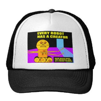 Cada robot tiene un regalo del cristiano del cread gorra