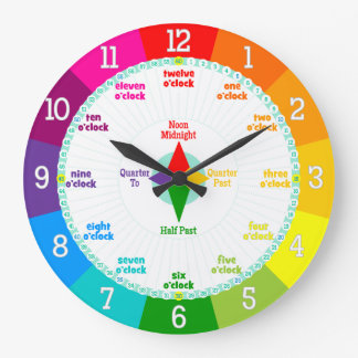 Cada segundo cuenta los colores del arco iris que  reloj de pared