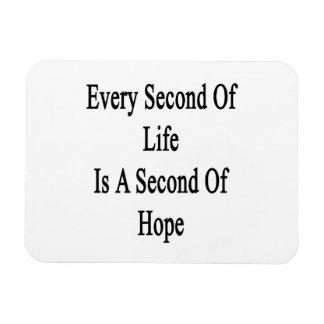 Cada segundo de la vida es un segundo de la imanes flexibles
