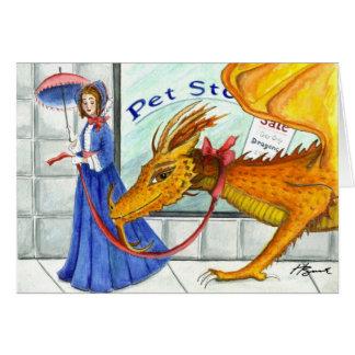 Cada señora necesita un dragón tarjeton