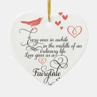Cada una vez adentro un rato en una vida ordinaria adorno de cerámica en forma de corazón