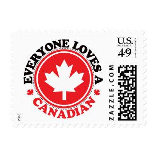 ¡Cada uno ama a un canadiense! Sellos