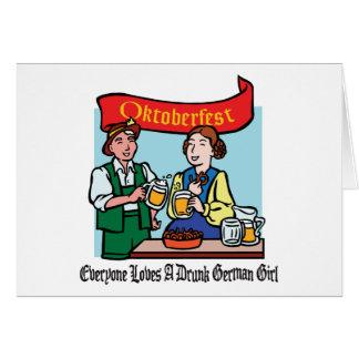 Cada uno ama a un chica alemán borracho Oktoberfes Tarjetas