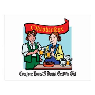 Cada uno ama a un chica alemán borracho postal