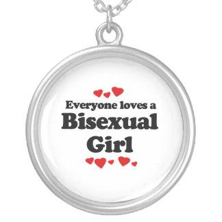 Cada uno ama a un chica bisexual colgante redondo