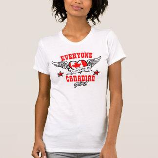 Cada uno ama a un chica canadiense camiseta