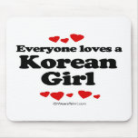 Cada uno ama a un chica coreano alfombrilla de raton