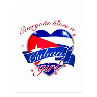 Cada uno ama a un chica cubano tarjeta postal