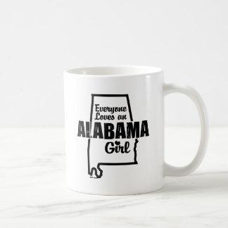 Cada uno ama a un chica de Alabama Tazas
