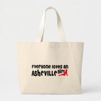 Cada uno ama a un chica de Asheville Bolsa Tela Grande