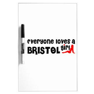 Cada uno ama a un chica de Bristol Pizarras