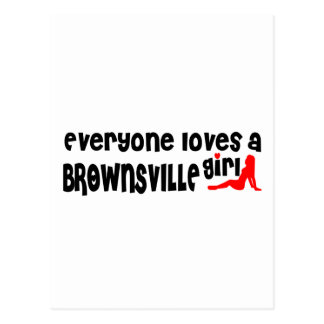 Cada uno ama a un chica de Brownsville Tarjetas Postales