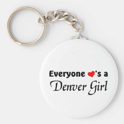 Cada uno ama a un chica de Denver Llavero Redondo Tipo Pin