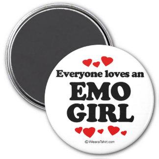 Cada uno ama a un chica de Emo Imán Redondo 7 Cm