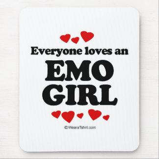 Cada uno ama a un chica de Emo Tapetes De Ratones