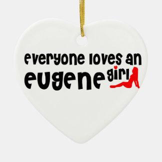 Cada uno ama a un chica de Eugene Adorno De Cerámica En Forma De Corazón