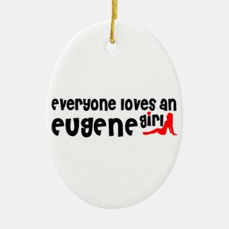 Cada uno ama a un chica de Eugene Adorno Ovalado De Cerámica