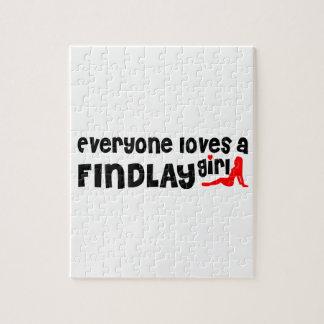 Cada uno ama a un chica de Findlay Puzzle Con Fotos