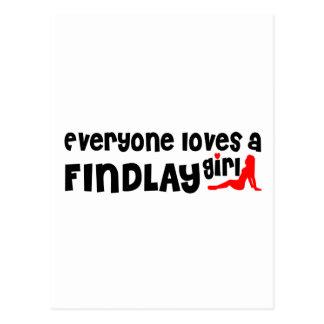 Cada uno ama a un chica de Findlay Tarjeta Postal