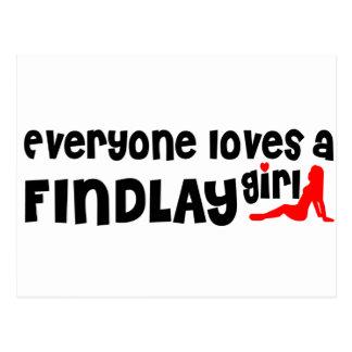 Cada uno ama a un chica de Findlay Postal