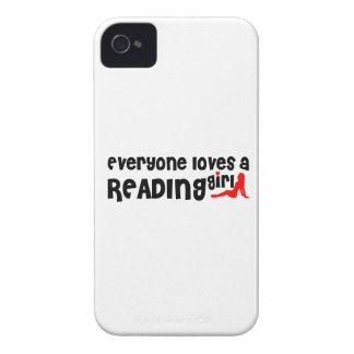Cada uno ama a un chica de la lectura iPhone 4 protectores