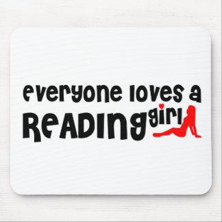 Cada uno ama a un chica de la lectura alfombrilla de raton