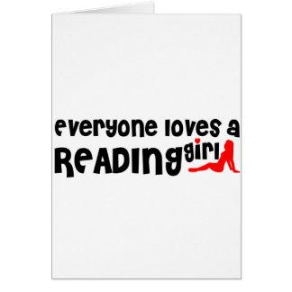 Cada uno ama a un chica de la lectura tarjeta de felicitación